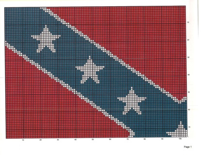 Free: Rebel Confederate Flag Crochet or Stamp Quilt Pattern ... : rebel flag quilt pattern - Adamdwight.com