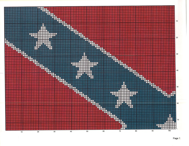 Free: Rebel Confederate Flag Crochet or Stamp Quilt Pattern - Crochet ...