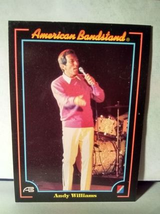 American Bandstand Trading Card Andy Williams