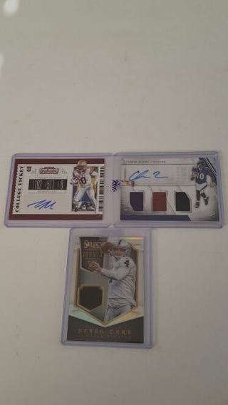 3 Card Lot Murray, Moore and Carr Auto and Jersey a nice Lot