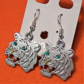 Awesome New Stainless Steel Tiger Earrings