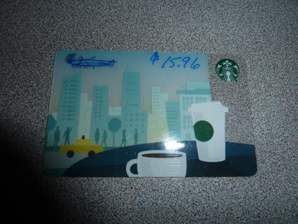 StarBucks gift card $15.96