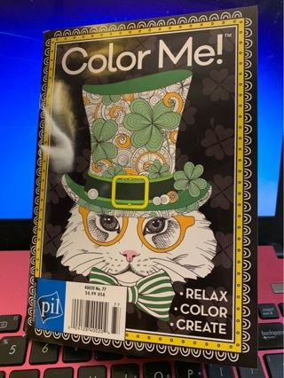 Celebrate Saint Patrick's Day with this Brand New Gift Quality Irish Adult Color Me Softcover Book