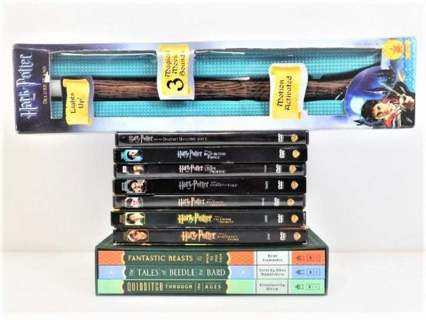 Hogwarts library Harry Potter DVDs Wand