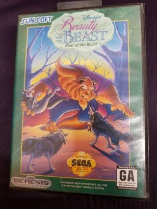 Disney's Beauty and the Beast: Roar of the Beast Game Cartridge(Sega Genesis, 1993) no Manual