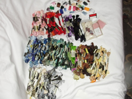 240 & 34 Cards = A Lot Of Mouline Special Embroidery Floss DMC