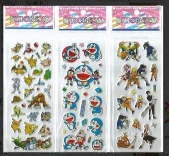 NEW JAPANESE Anime Manga Pop Up BUBBLE Stickers Vibrant Detailed Variety FREE SHIPPING