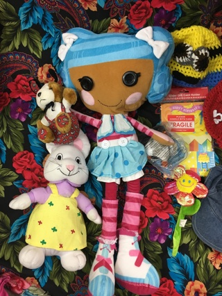 TOY LOT STUFFED ANIMALS LALALOOPSY TY RUBY OTHERS CHILDREN KIDS FUN FIGURES