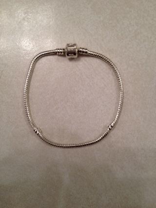 Pandora like bracelet 8 inch marked 925