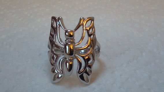 925 STERLING SILVER BUTTERFLY RING SIZE7