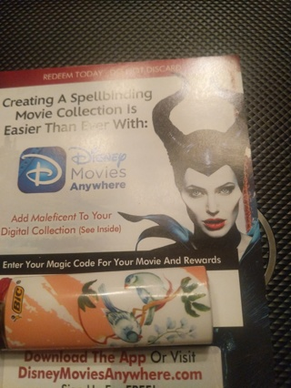 Malelificent Disney digital copy