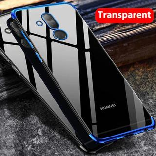 Transparent Clear Case Huawei Mate 20 Pro Mate 20 lite Plating Soft TPU Case +Tempered Glass Huawe