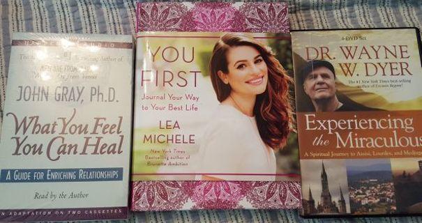 (っ◔◡◔)っ❁♥ 3 Motivational Sets, You First Journal, What you Feel you can Heal, Dr. Wayne Dyer 4 DVD