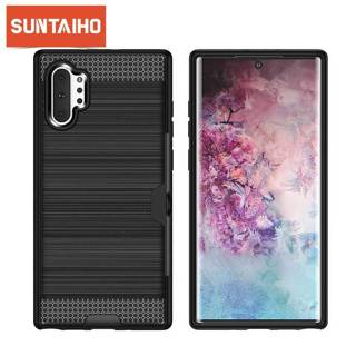 Strong Soft Silicone Phone Protector Case For Samsung Note 10 Pro S10 Lite S10 S9 S8 Plus S7 A7 Back