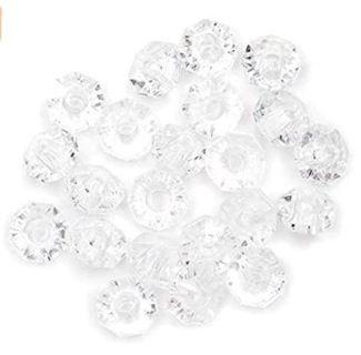 Darice 06116-1-T27 Bead Faceted Rondells Translucent, 6 mm