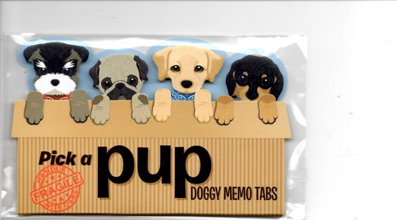 Pick A Pup Doggy Memo Tabs (new)