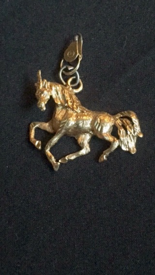 14K GOLD UNICORN