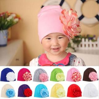 1 Piece Winter Autumn Crochet Baby Hat Girls Cap Beanie Flower Infant Cotton knitted toddlers New