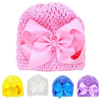 Baby Hats With Ears Newborn Toddler Beanie Knitted Infant Baby Girl Bowknot Hollow Out Baby Hat He