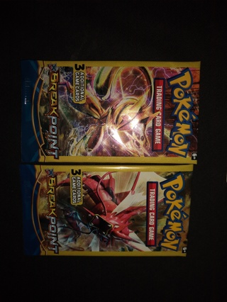 2 sealed #2 pokemon trading card game packs BREAK point free ship