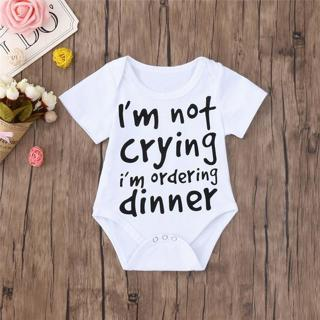 Summer Baby Clothes Babys Romper Newborn Toddler Infant Baby Boy Girl Letter Print Short Sleeve Ju
