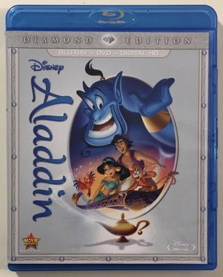 Disney Aladdin Diamond Edition 2-Disc Blu-ray / DVD Combo Movie with Case