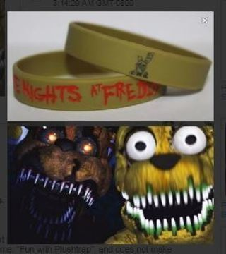 BRAND NEW Five Nights at Freddy's Wrist Band PLUSHTRAP bracelet wristband Video Game