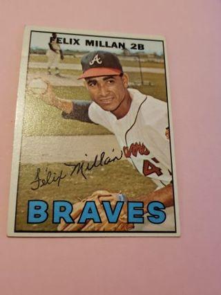 1967 Felix Millan Atlanta Braves vintage baseball card