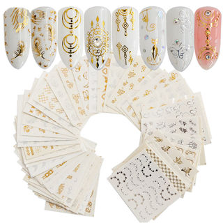 30 Sheets Water Decals Stickers Cat Flower Manicure Nail Art Transfer Sticker