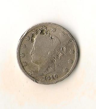 "1910 Liberty Head ""V"" Nickel- 108 Years Old!!!- FREE!!!"
