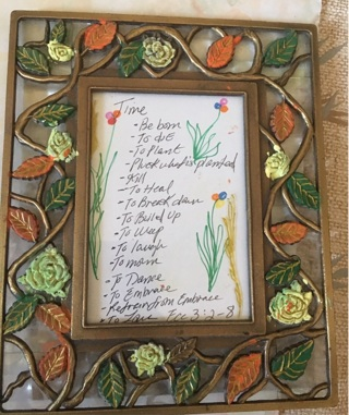 Flower glass frame