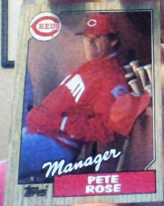 **1987 TOPPS CINCINATTI REDS PETE ROSE MANAGER BASEBALL CARD**