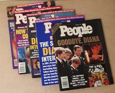 LOT of (5) PEOPLE Magazine - Princess Diana Issues!