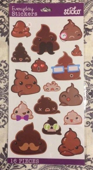 kawaii poop sticker sheet