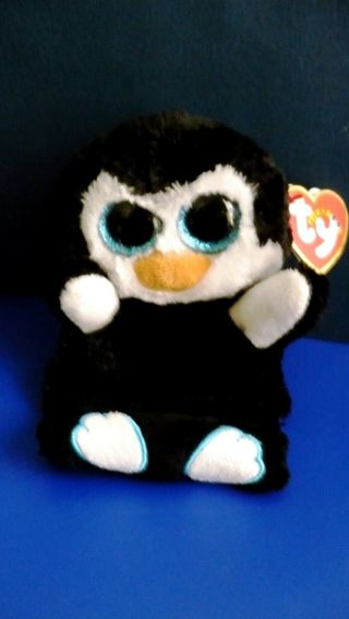 "Ty Peek-A-Boos ""Penni The Penguin Plush"" ~ Holds Your Phone with Tag"