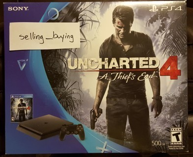 Play Station 4: Uncharted 4 / 1 Free Game & Never Opened 500 GB
