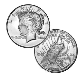 Free Liberty Peace 999 One Troy Oz