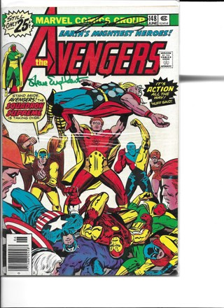 The Avengers #148 Marvel Comics Signed by George Perez and Steve Englehart