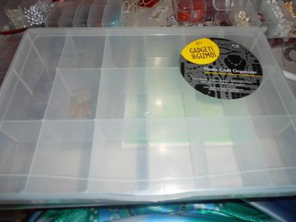 One Plastic Container - 10 1/2 x 7 x 2