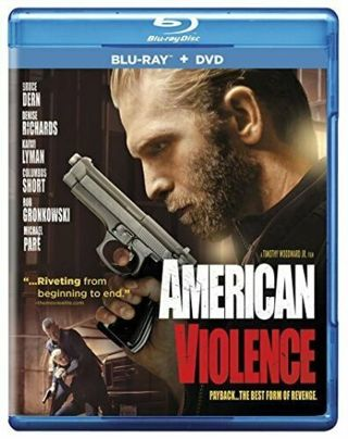 2017 American Violence Blu-ray + DVD Movie, 2-Disc Set-Payback-The Best Form of Revenge-New & Sealed
