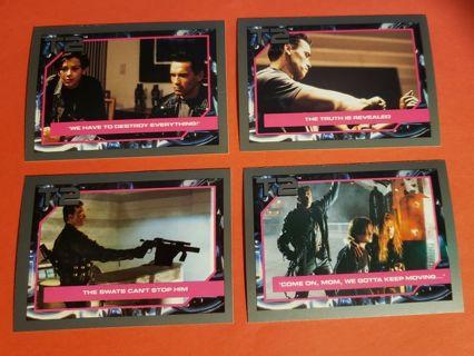 4 Vintage Impel Terminator 2 Movie Cards (1991) Lot # 3 Arnold Schwarzenegger Linda Hamilton
