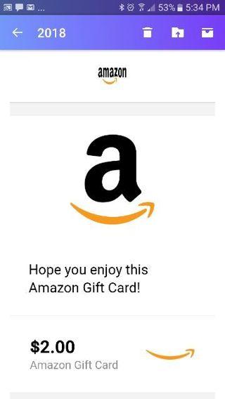 $2.00 Amazon gift card