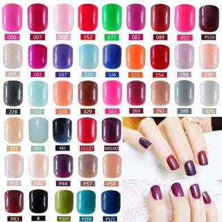 2019 fashion beautiful candy color Nail finished false nails short paragraph 24pcs 54 section Opti