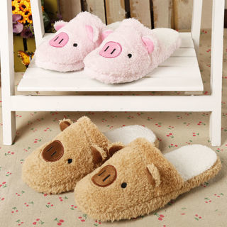 Women Men Anti-Slip Flat Shoes Soft Winter Warm Velvet House Indoor Slippers