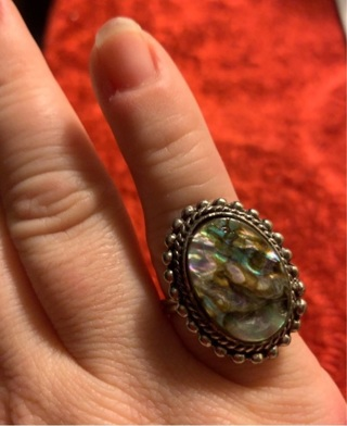 Vintage Mother of Pearl Adjustable Ring! Very Pretty!