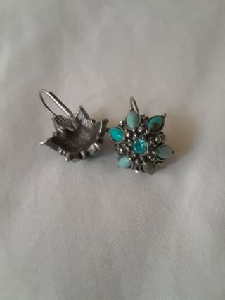 ~》 Turquoise &Silver Earrings 《~
