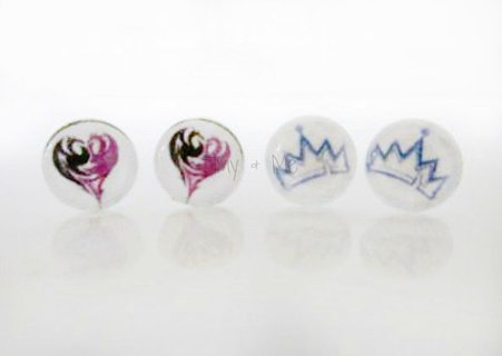 Free Mal Amp Evie Logo Earrings Disney Descendants