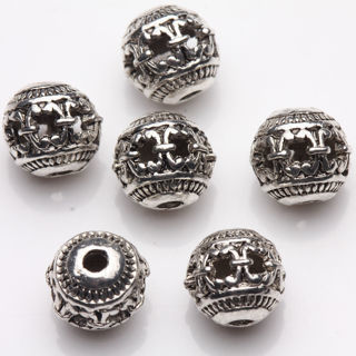 20Pcs Delicate Tibetan Silver Hollow Out Spacer Beads Jewelry Finding Craft