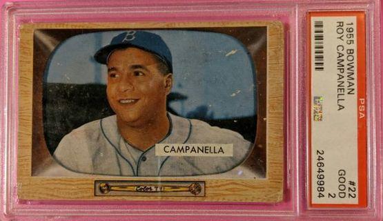 1955 BOWMAN ROY CAMPANELLA * PSA GRADED GOOD