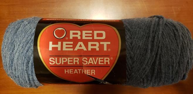 "NEW - Red Heart Super Saver Yarn - ""Denim Heather"""